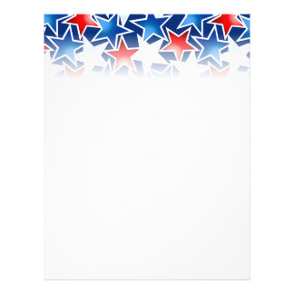 Red white and blue stars flyer