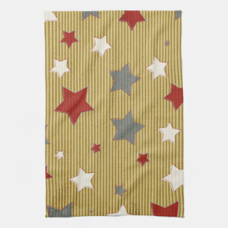 Red, White and Blue Stars Hand Towel
