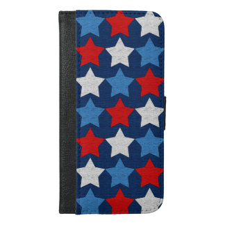 Red white and blue stars iPhone 6/6s plus wallet case