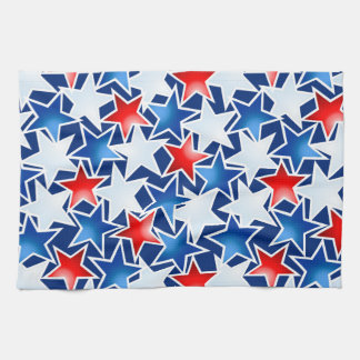 Red white and blue stars kitchen towel