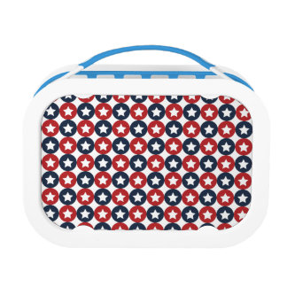 Red White And Blue Stars Lunchboxes