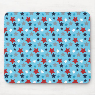 Red White And Blue Stars Mouse Pad