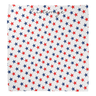 red, white and blue stars patriotic bandana