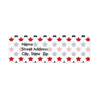 Red, White, and Blue Stars Pattern
