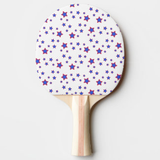 Red, White, and Blue Stars Ping-Pong Paddle