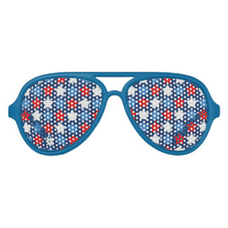 Red white and blue stars sunglasses
