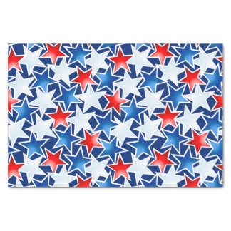 Red white and blue stars tissue paper