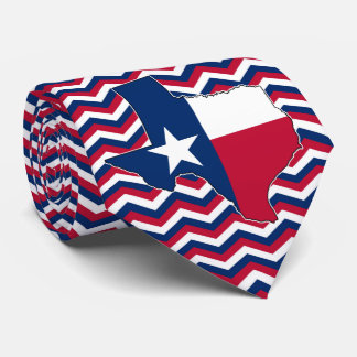 Red White and Blue State of Texas Tie for Texans