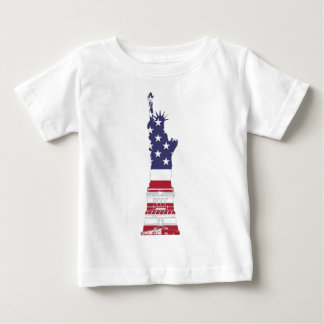 Red White And Blue Statue Of Liberty Baby T-Shirt