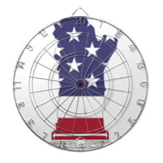 Red White And Blue Statue Of Liberty Dartboard
