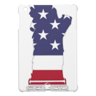 Red White And Blue Statue Of Liberty iPad Mini Cases