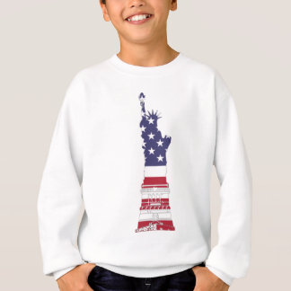Red White And Blue Statue Of Liberty Sweatshirt