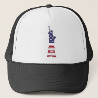 Red White And Blue Statue Of Liberty Trucker Hat