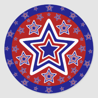 Red White and Blue Stickers