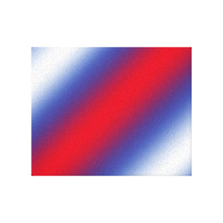 Red, White and Blue Stretched Canvas Print