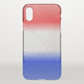 Red White and Blue Stripe iPhone X Case