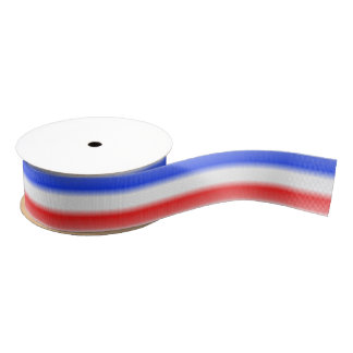 Red White and Blue Stripe Grosgrain Ribbon