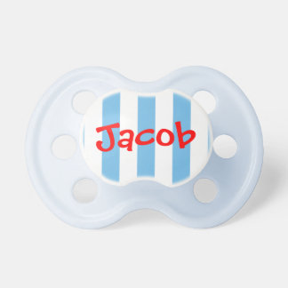 Red White and Blue Striped Personalized Pacifier