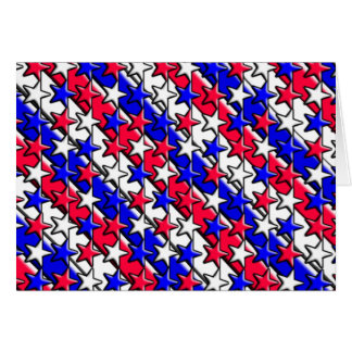 Red, White, and Blue Stripes and Stars Notecard