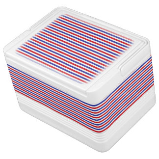 Red, White and Blue Stripes Can Cooler