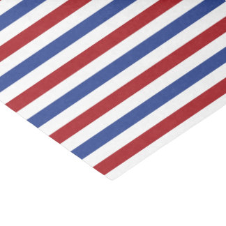 Red White and Blue Stripes Tissue Paper