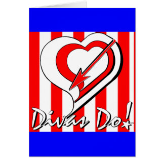 Red, White and Blue Stripes with Heart Divas Do!tm Card