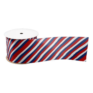 Red White and Blue Stripes Satin Ribbon