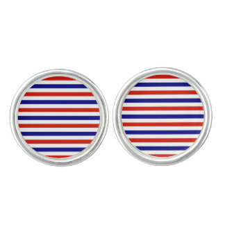 Red White and Blue Stripped Cufflinks