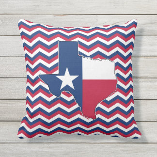 Red White and Blue Texas Decorative Throw Pillow