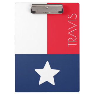 Red, White and Blue Texas Flag Clipboards