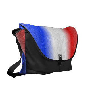 Red White and Blue Texured Design Commuter Bag
