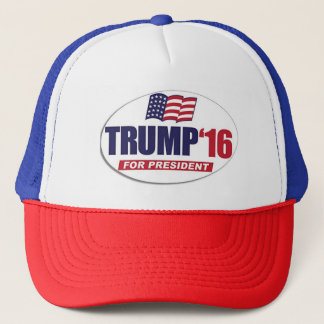Red, White and Blue Trucker's hat
