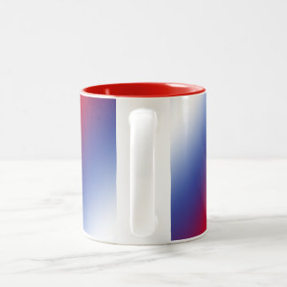Red, White and Blue Two-Tone Coffee Mug