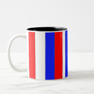 Red White and Blue Two-Tone Coffee Mug