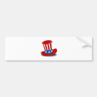 Red, White, and Blue Uncle Sam Top Hat Bumper Stickers