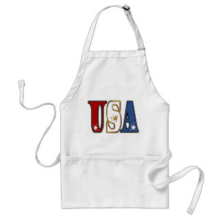 Red White and Blue USA  Apron