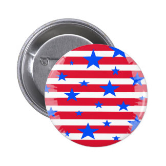 Red White and Blue USA Stars and Stripes Buttons