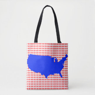 Red White and Blue USA United States of America Tote Bag