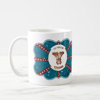 """Red White and Blue Vintage Circus Monogram """"Y"""" Coffee Mug"""