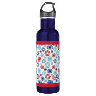 Red White and Blue Water Bottle