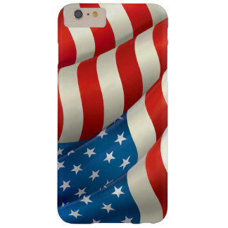 Red White and Blue Waving U.S. Flag Barely There iPhone 6 Plus Case