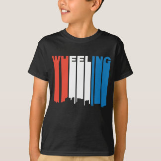 Red White And Blue Wheeling West Virginia Skyline T-Shirt