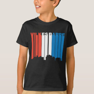 Red White And Blue Wilkes-Barre Pennsylvania Skyli T-Shirt