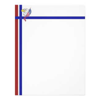 Red White and Blue with Eagle Letterhead