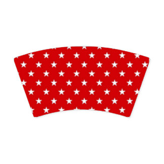 Red White and Blue with White Stars & Stripes Paper Cup