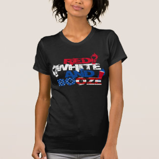 RED WHITE AND BOOZE July 4th summer US party shirt