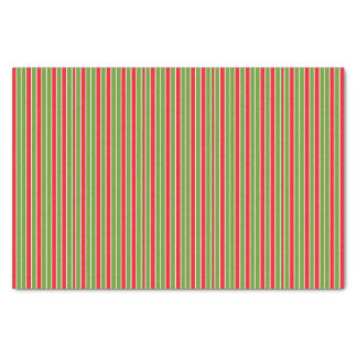 Red, White and Green Stripes Tissue Paper