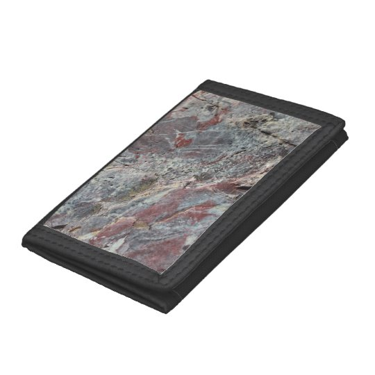 Red White and Mossy Mineral Texture Trifold Wallet