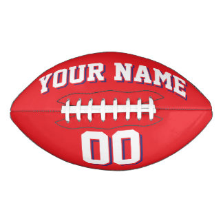RED WHITE AND NAVY Custom Football