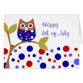 Red, White and Who Owl! Card